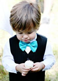 Tiffany Blue Boys Pre-Tied Bow Tie Perfect for Your Wedding
