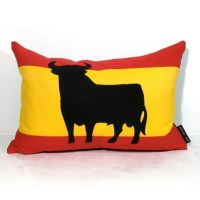 Spanish Flag Pillow Cover Decorative Throw Pillow by Mazizmuse