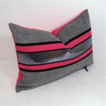 Pink And Grey Pillow Cover Cashmere Wool Cushion