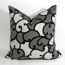 Black White Gray Pillow Cover Outdoor Cushion