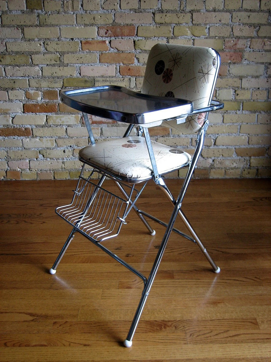 Vintage Chrome and Retro Vinyl High Chair 60s Mpls MN 55404