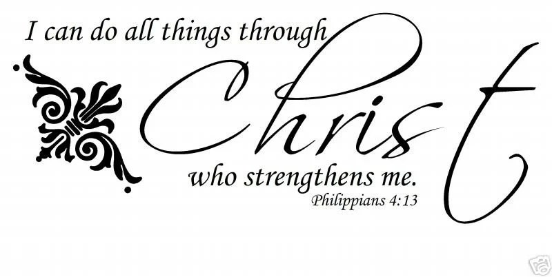 I can do all things through Christ who strengthens me Wall