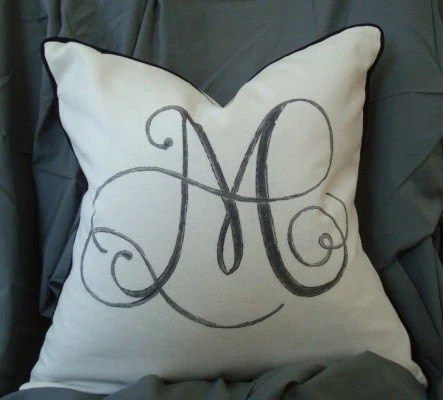Custom Monogram Pillow Cover