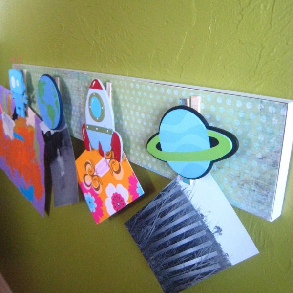 Outer Space Children' Picasso Art Clip Board Free