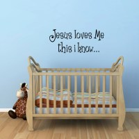 Jesus Loves Me Wall Decal Bible Verse Wall Sticker