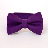 Boy's Bow Tie Amethyst Purple Solid Deep Purple Bowtie