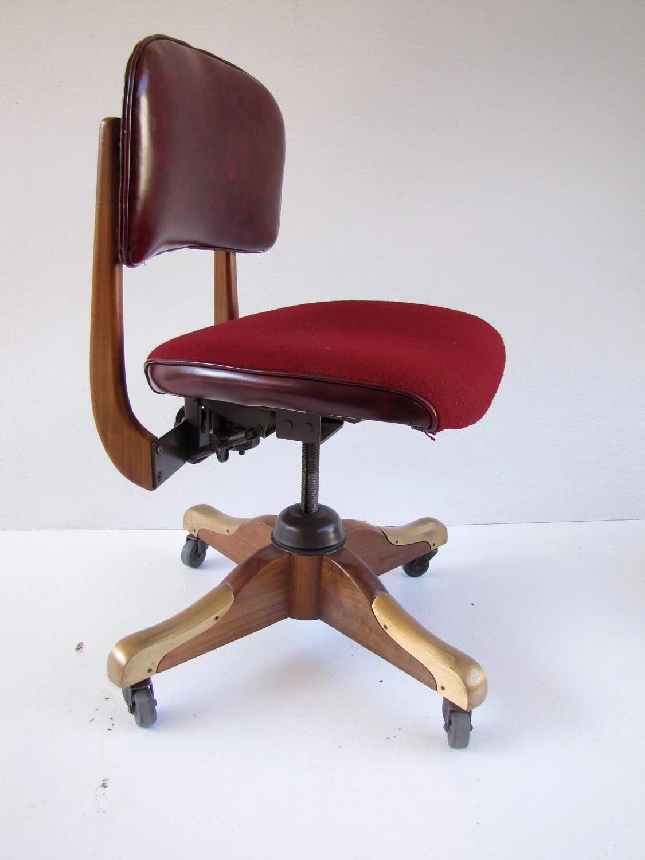 wh gunlocke chair concert lawn chairs vintage w h secretarial walnut very nice