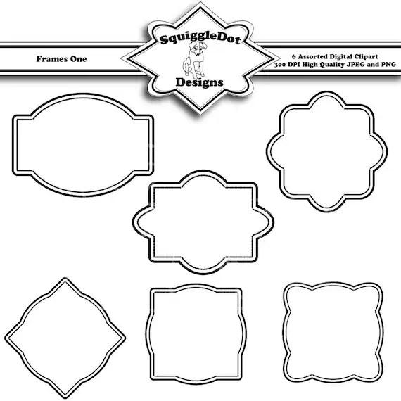Items similar to Printable Frame Clip Art Digital