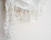 ivory fabric headband scarflate circle loop  neck accessory - boutiqueseragun