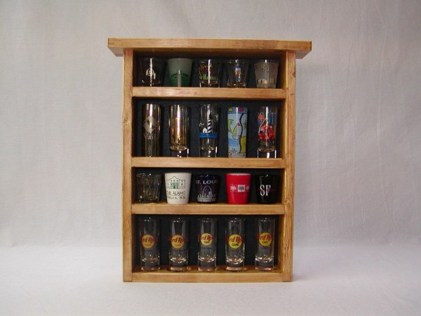 Cheyenne Series 20 Shot Glass Display Case With Blue Felt