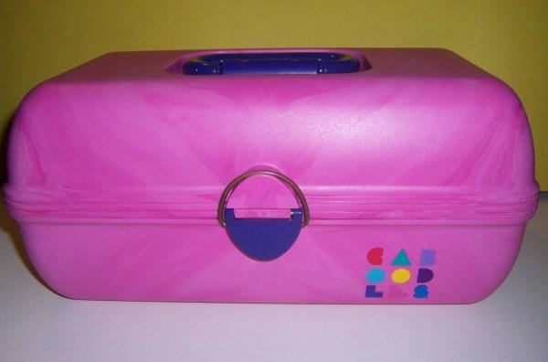 Vintage 1980s Caboodles Makeup Organizer Carrying Case Pink
