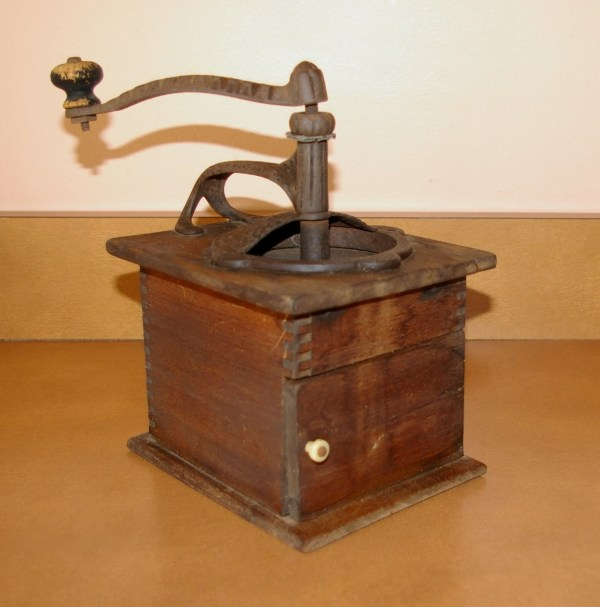 Antique Coffee Grinder Date Stamped 15 1888 Handle