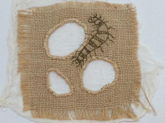 Caterpillar - Hand Embroidery