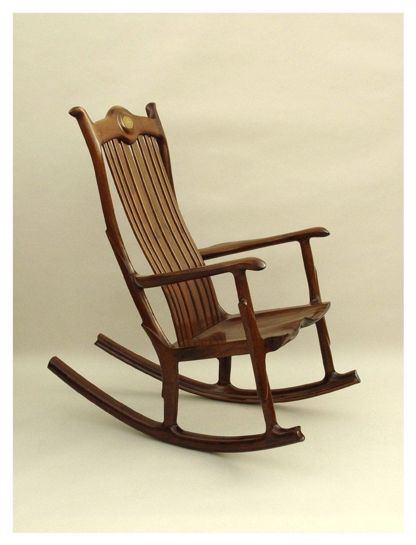 handmade rocking chairs guitar practice chair custom wood seat