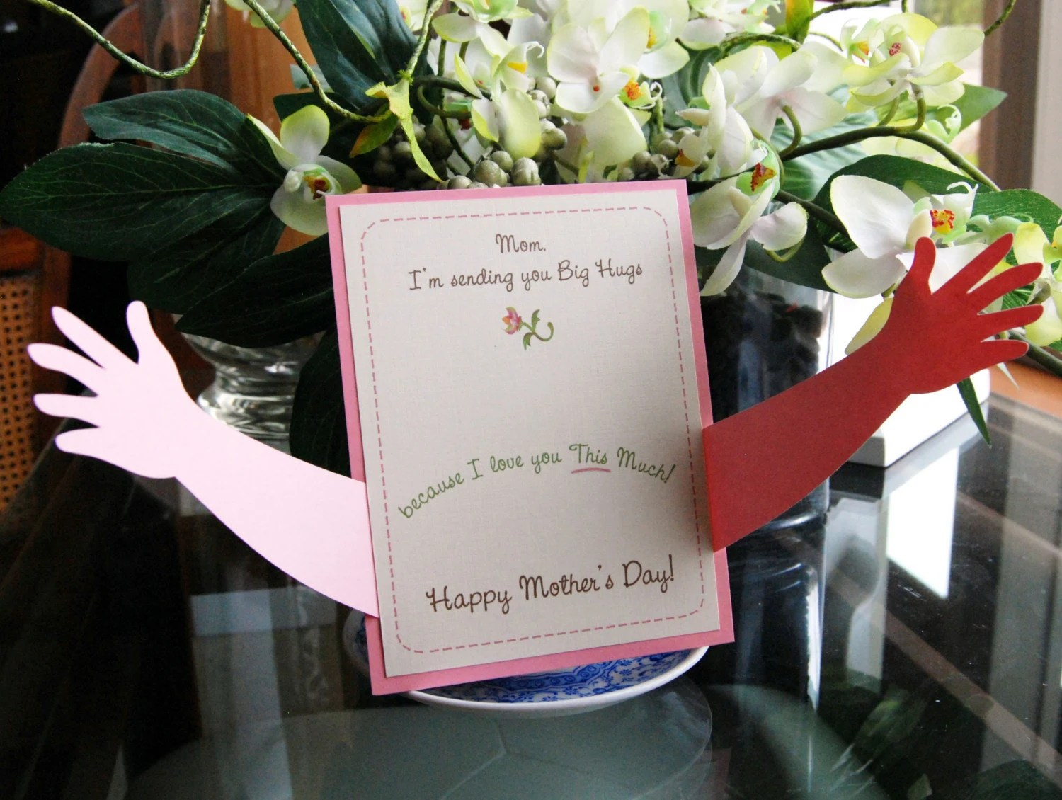 Mother S Day Card Hugs I Love You This Much