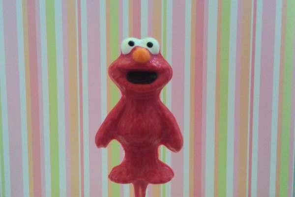 Elmo Birthday Favors 10 Chocolate Lollipops