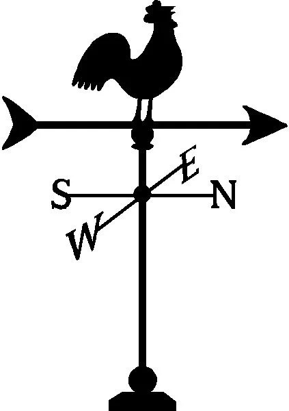 Chicken Weathervane Wall Decal Removable Farm Wall Sticker