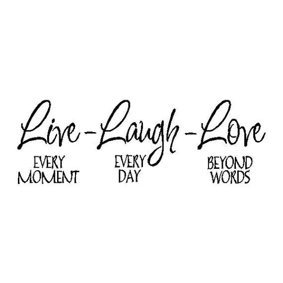 Live Laugh Love... Familie Wand Zitat Sprüche abnehmbare