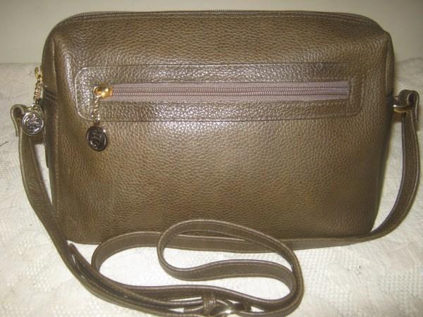 Vintage Liz Claiborne Handbag Green Leather Classy Shoulderbag