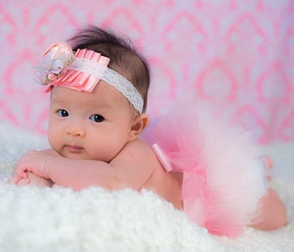 Valentine Baby Pink Newborn Tutu. Proportioned Tutu