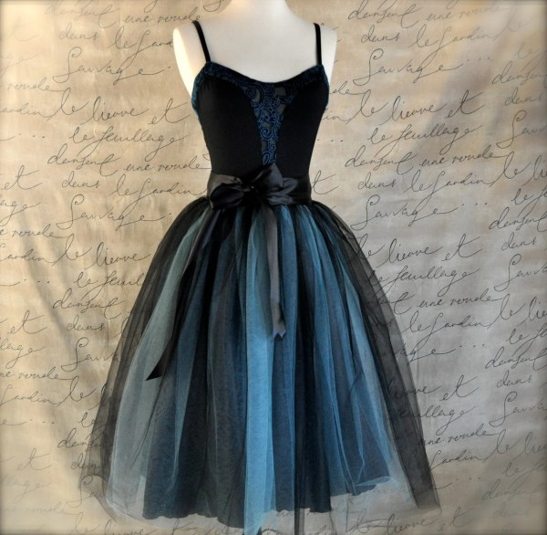 Black And Tiffany Blue Aqua Tutu Skirt Women. Ballet