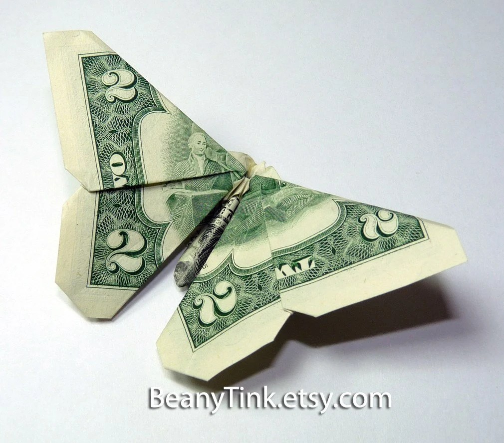 Origami Flowers From Dollar Bills