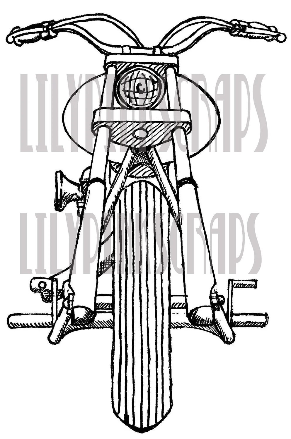 Items similar to Motorcycle digital stamp on Etsy