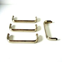 mid century modern chrome cabinet pulls/ drawer pulls set of