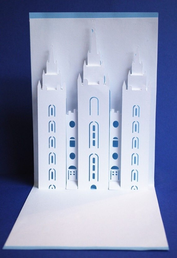Salt Lake LDS Temple Pop Up Card