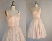 1950s Vintage Dress 50s Cocktail Princess Sequin