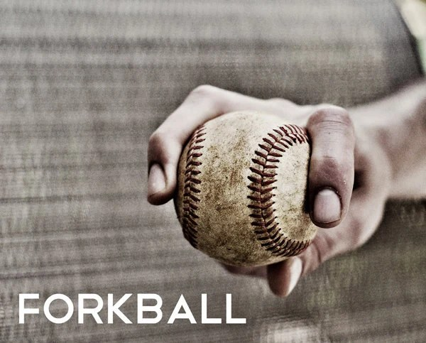 Forkball Pitch Black  White Photo Baseball pitches Boys Art