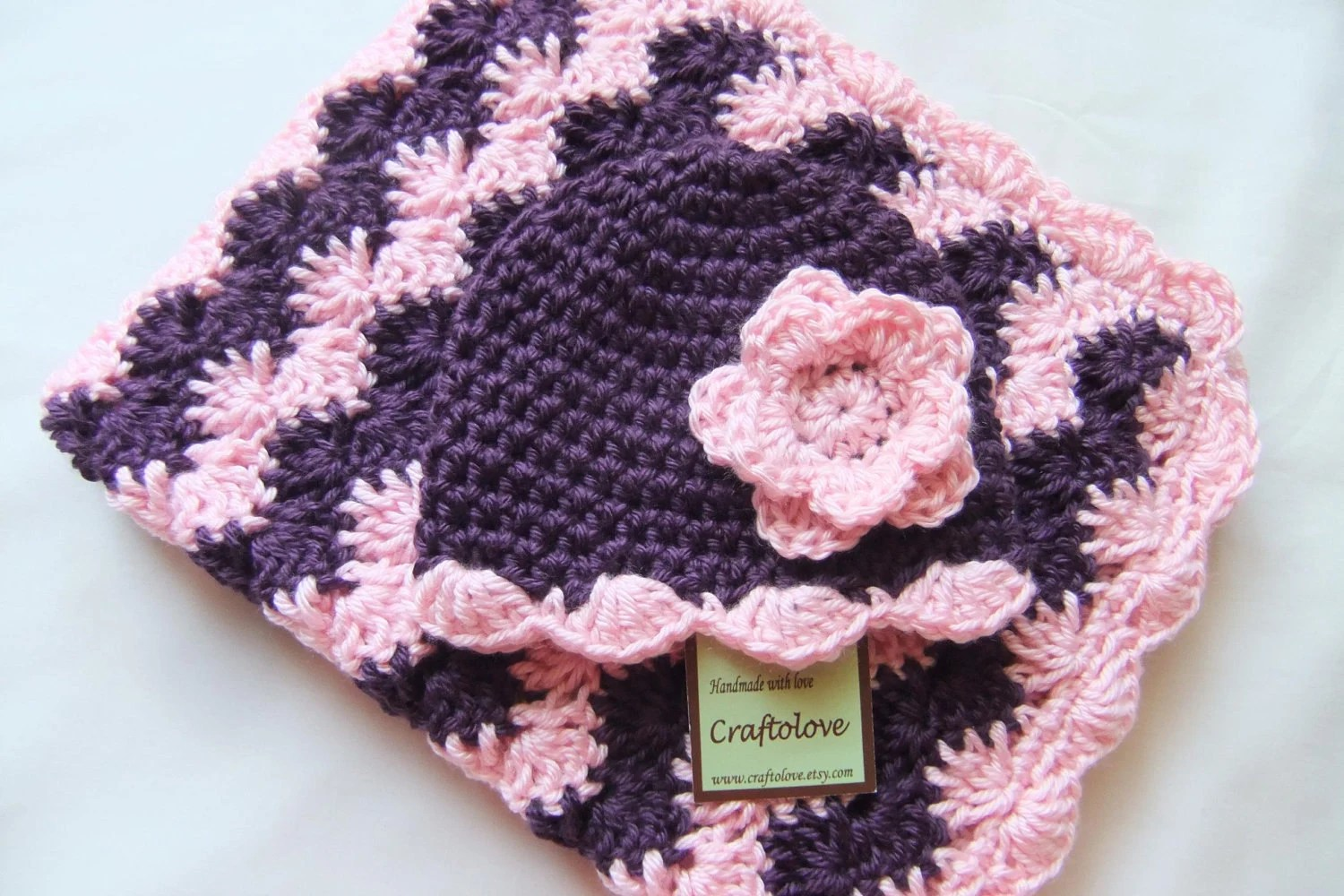 Knitted Baby Hat With Flower