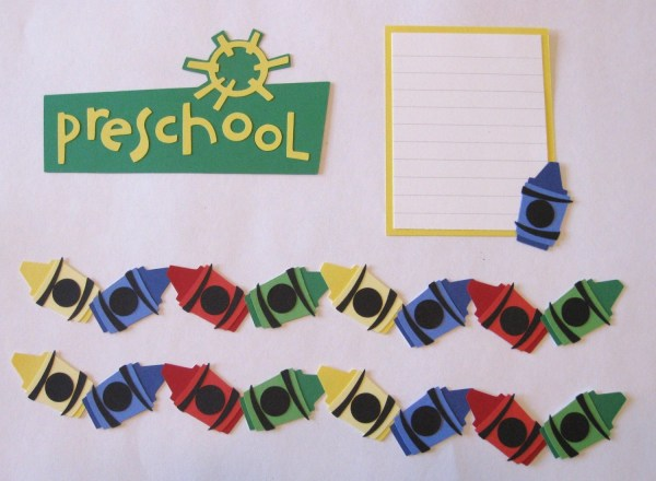 Preschool Scrapbook Border Set Page Layout Scrapbookfaster