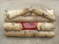 Fire Drum Log Brickote Faux Fireplace Birch