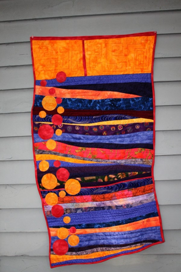 Modern Art Quilt Wall Hanging