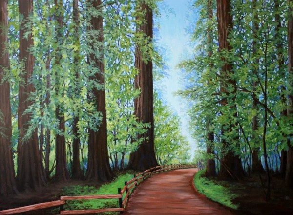 original landscape painting redwood