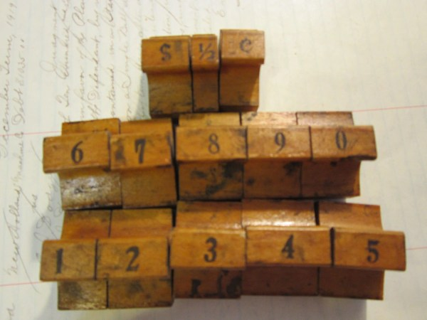 Antique Rubber Stamps Large Number Set With Extras 13