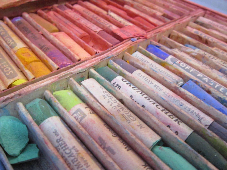 vintage PASTELS Grumbacher and NuPastel soft pastels