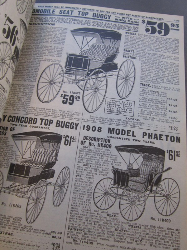 Vintage Sears Catalog 1969 Reproduction Of 1908 Catalogue