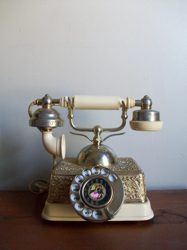 Vintage Radio Shack French Continental Princess Rotary Phone