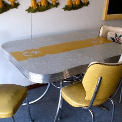 Formica Table And Chairs Office Under 1000 Items Similar To Vintage Yellow Gray Chrome Kitchen Two On Etsy