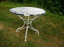 Woodard Wrought Iron Garden Table 35 X 29.5 Assemblage333