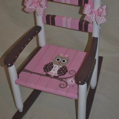 Kids Wooden Rocking Chair Fold Out Handpainted Chair-kids Chairs-rocking