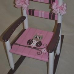 Pink Nursery Rocking Chair Fritz Hansen Egg Handpainted Chair-kids Chairs-rocking