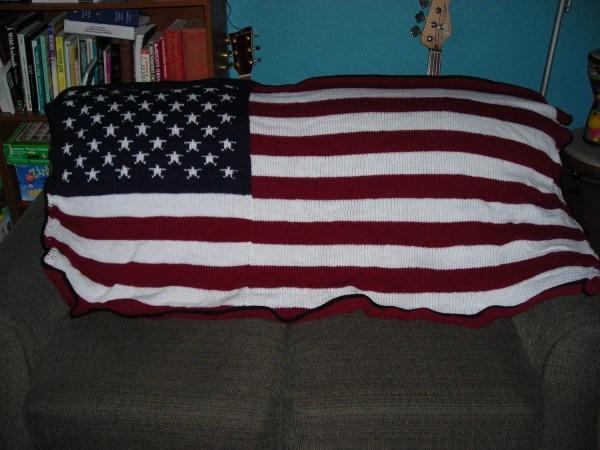 American Flag Knit Throw Blanket 40 Original Musicraft