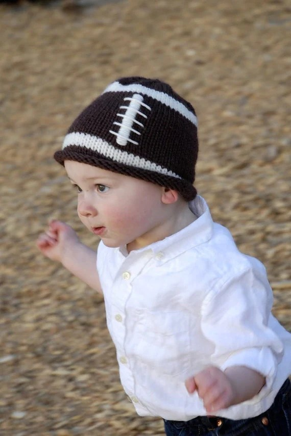 Items similar to Knit Baby Hat Football Hat for a Small