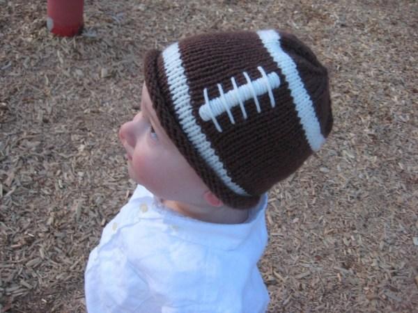 PATTERN Knit Football Hat for a Little Fan PDF Football Hat