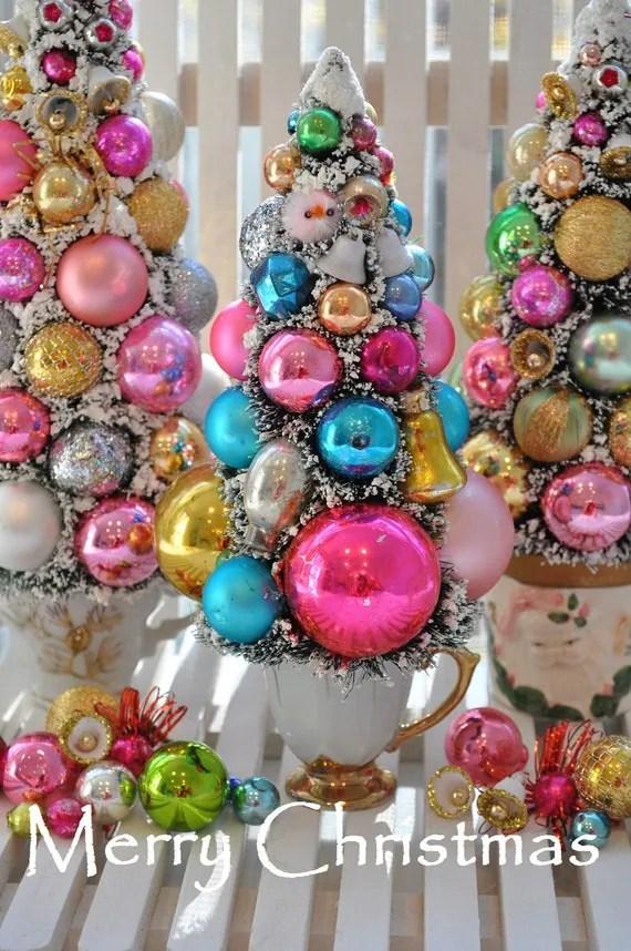 Shabby Tree Chic Christmas Ornament