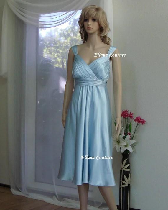 SAMPLE SALE Silk Charmeuse Wedding Dress Tea Length Bridal