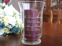 Memorial Candle holder Personalized Engraved